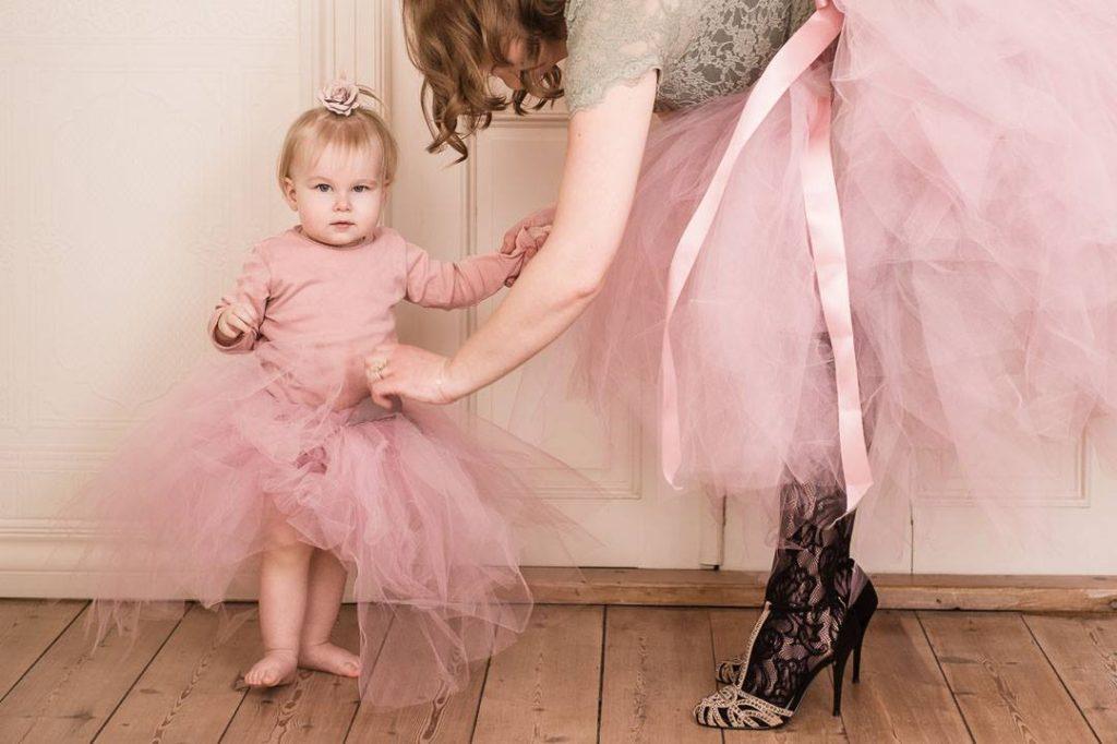 Familie fra Vejle fik taget smukke prinsesse billeder sammen i deres eget hjem
