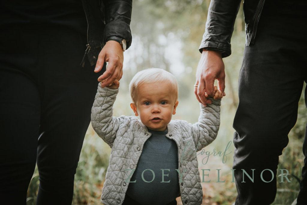 I mor og fars hænder, tryghed, lillemand