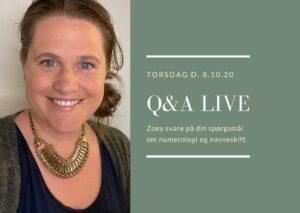 Q&A om numerologi med Zoey Elinor